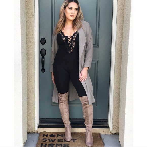 Shoes - •FINAL PRICE SALE• Taupe thigh high boots